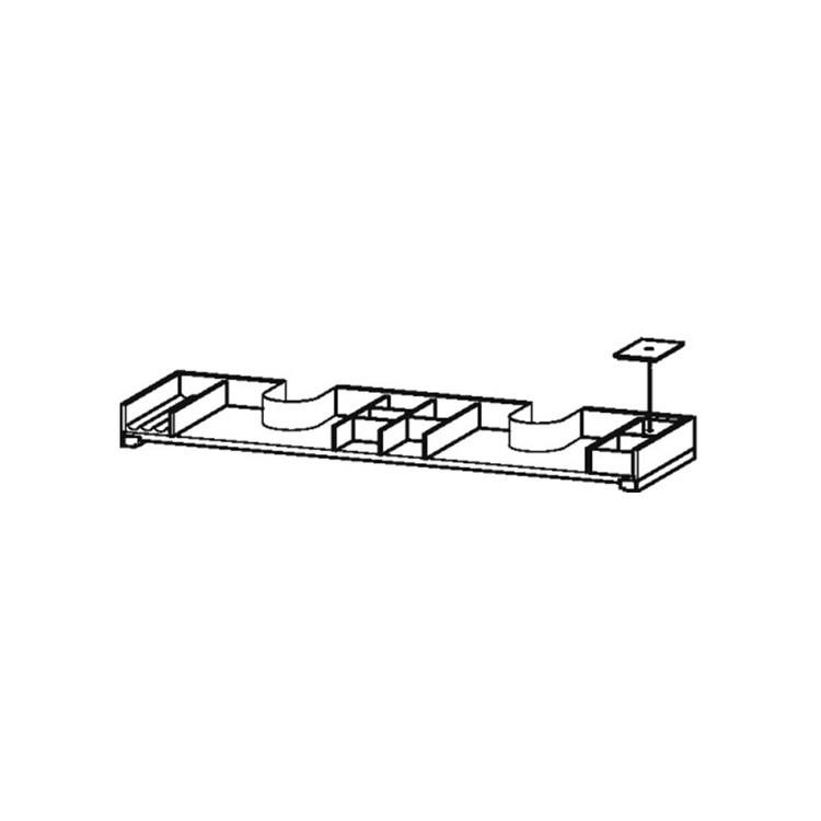 Duravit Dotazione interna in legno massello, per elementi di larghezza 1300 mm, finitura noce americano UV96557777