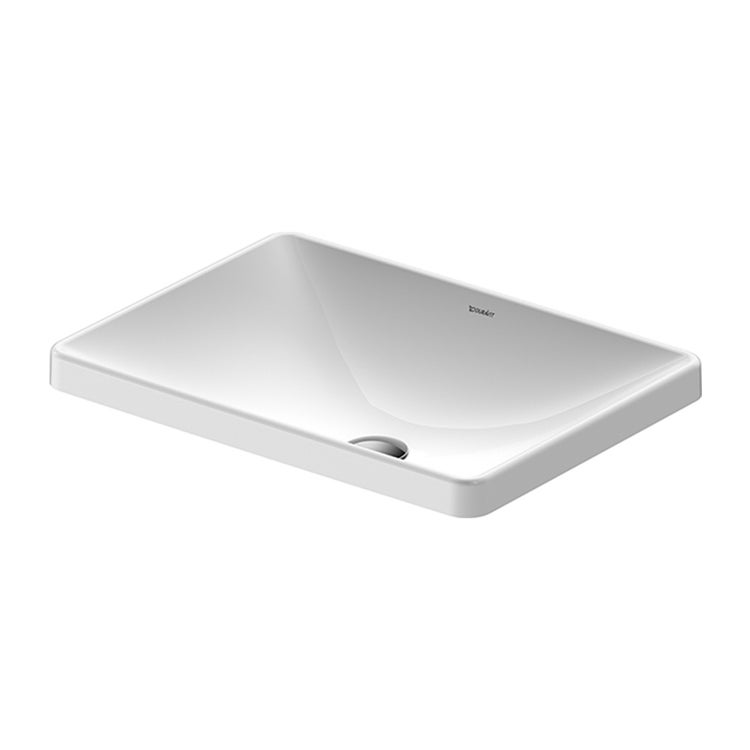 Duravit D-NEO lavabo da incasso soprapiano 60 cm, senza troppopieno, colore bianco 0358600079