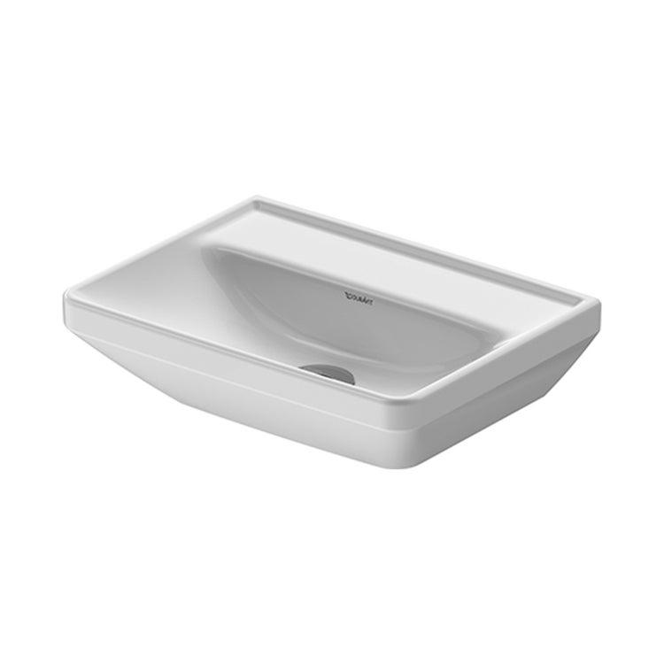 Duravit D-NEO lavamani 45 cm, senza troppopieno, lato inferiore smaltato, Wondergliss, colore bianco 07384500701