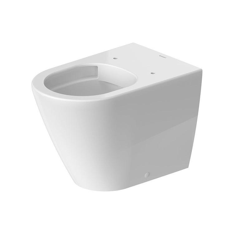 Duravit D-NEO vaso a pavimento Rimless®, a cacciata, scarico orizzontale, UWL classe 1, Hygieneglaze, colore bianco 2003092000