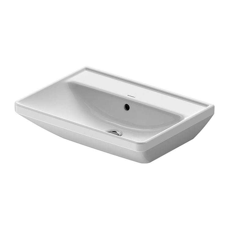Duravit D-NEO lavabo 60 cm, con troppopieno, lato inferiore smaltato, colore bianco 2366600060