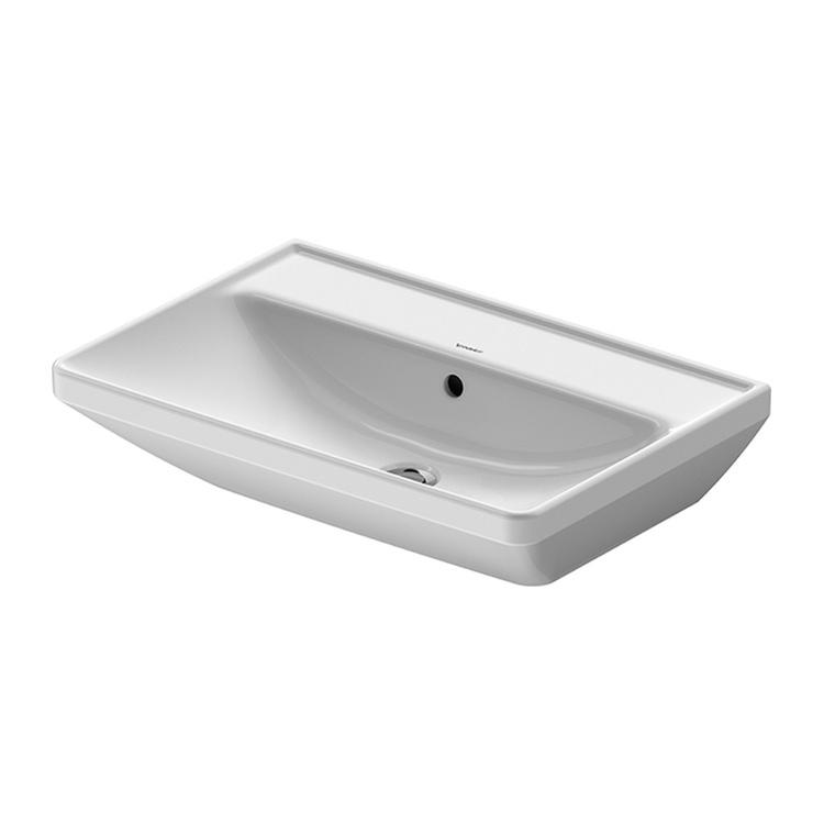 Duravit D-NEO lavabo 65 cm, con troppopieno, lato inferiore smaltato, colore bianco 2366650060