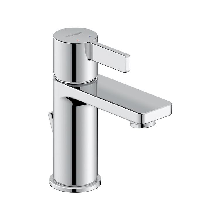 Duravit D-NEO miscelatore monocomando H.15.1 cm, per lavabo S, con salterello, finitura cromo DE1010001010