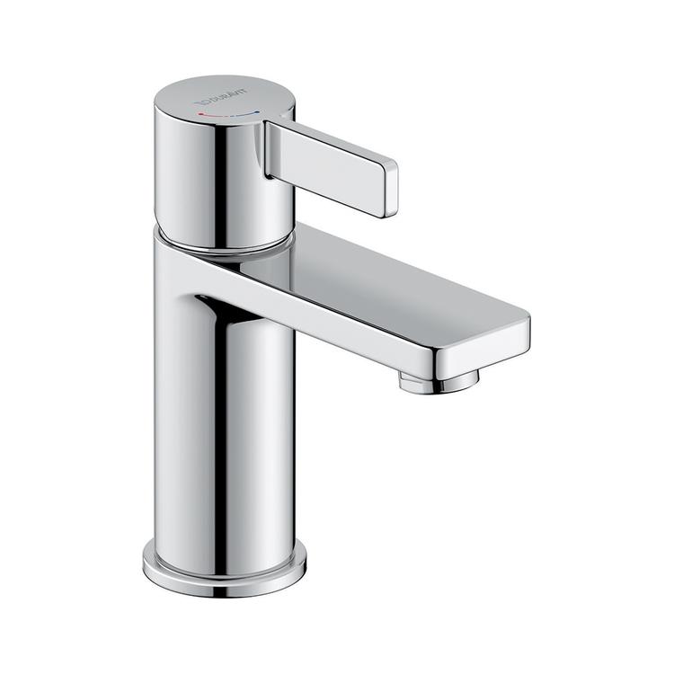 Duravit D-NEO miscelatore monocomando H.15.1 cm, per lavabo S, senza salterello, con tecnologia Freshstart , finitura cromo DE1011002010
