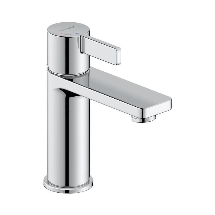 Duravit D-NEO miscelatore monocomando H.16.5 cm, per lavabo M, senza salterello, con tecnologia Freshstart, finitura cromo DE1021002010
