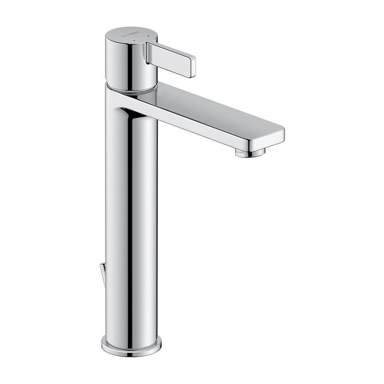Duravit D-NEO miscelatore monocomando H.27 cm, per lavabo L, con salterello, finitura cromo DE1030001010