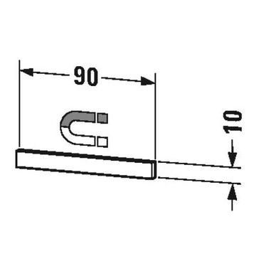 Duravit Barra magnetica in acciaio L.90 cm, finitura cromo UV9709