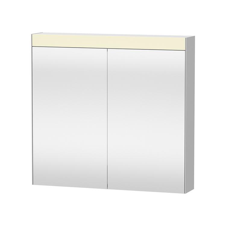 """Duravit D-NEO armadietto a specchio L.81 cm, versione """"Good"""", 2 ante a specchio, 2 ripiani in vetro, per interruttore a parete LM782100000"""