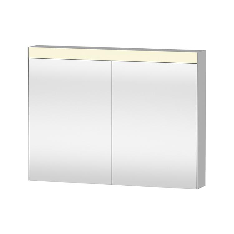 """Duravit D-NEO armadietto a specchio L.101 cm, versione """"Good"""", 2 ante a specchio, 2 ripiani in vetro, per interruttore a parete LM782200000"""