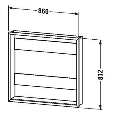 """Duravit Set L.86 cm per l'incasso degli armadietti a specchio versione """"Good"""" e """"Better"""" LM9876"""