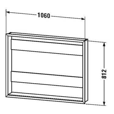"""Duravit Set L.106 cm per l'incasso degli armadietti a specchio versione """"Good"""" e """"Better"""" LM9877"""