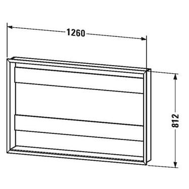"""Duravit Set L.126 cm per l'incasso degli armadietti a specchio versione """"Good"""" e """"Better"""" LM9878"""