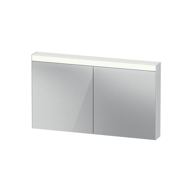 """Duravit D-NEO armadietto a specchio L.136 cm, 2 ante a specchio, 4 ripiani in vetro, versione """"Good"""" LM785400000"""