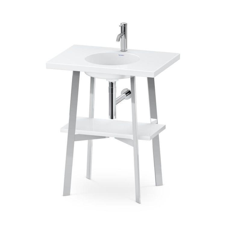 Duravit CAPE COD base sottolavabo a pavimento 70 cm, 1 ripiano sotto, per lavabo consolle Cape Cod (art. 233970), colore bianco finitura lucido CC953508585