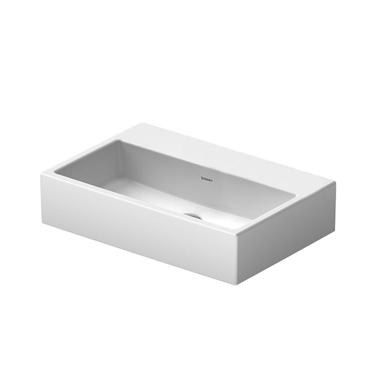 Duravit VERO AIR lavabo consolle Compact 60 cm, senza troppopieno, lato inferiore smaltato, colore bianco 2368600079