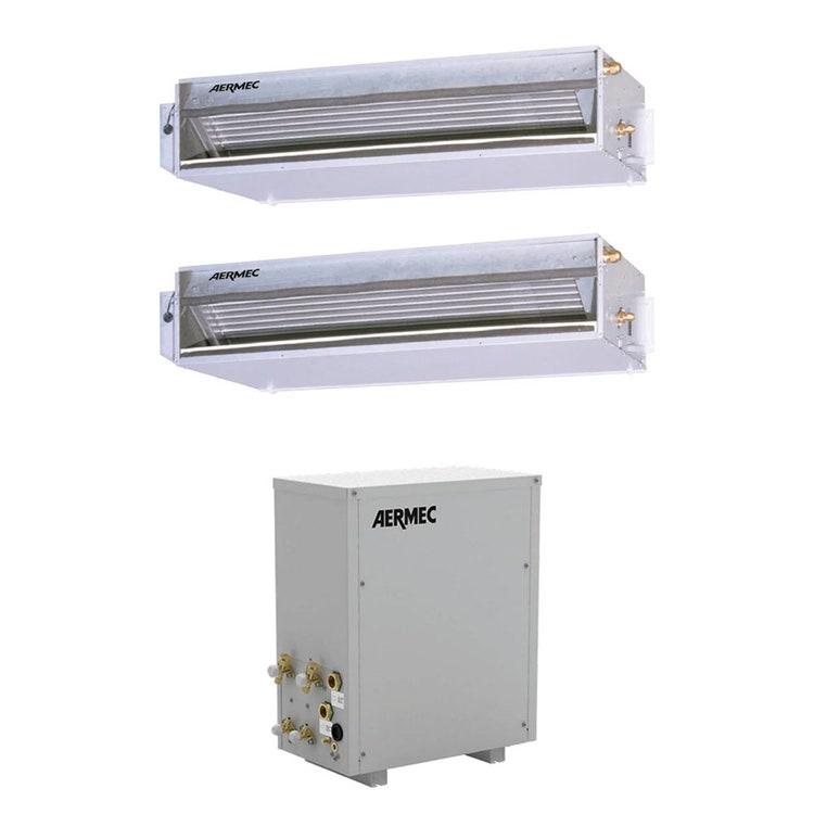 Aermec CWXM Climatizzatore canalizzabile dual split inverter SOLO raffreddamento | unità esterna 5.38 kW unità unità interne 12000+12000 BTU CWXM520+2xEXC123