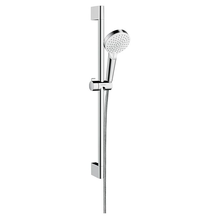 Hansgrohe CROMETTA set doccia Vario, con asta doccia 67 cm, finitura cromo e bianco 26532400