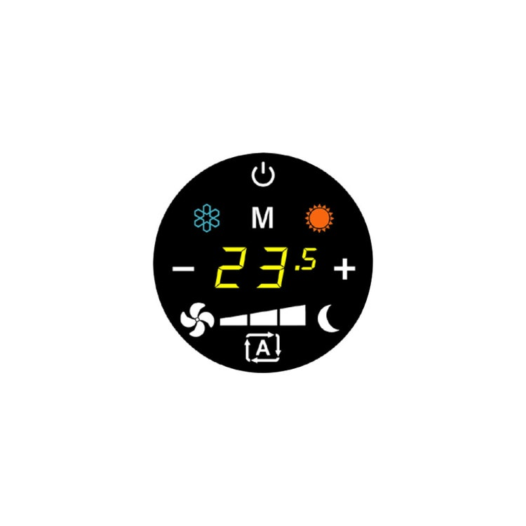 Sabiana Comando a bordo touch con cambio automatico velocità con termostato elettronico e commutatore estate/inverno (utilizzabile solo con UP-Touch) 9071061