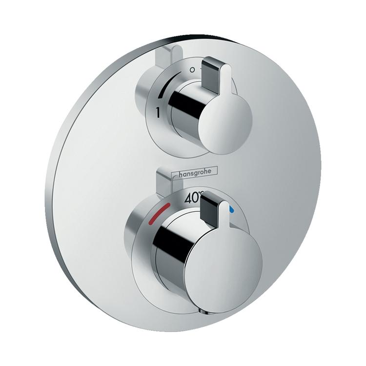 Hansgrohe ECOSTAT S miscelatore termostatico ad incasso per 2 utenze, finitura cromo 15758000