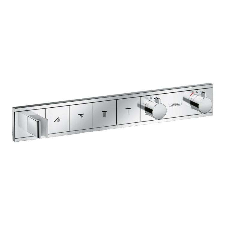 Immagine di Hansgrohe RAINSELECT miscelatore termostatico ad incasso, per 4 utenze, finitura cromo 15357000