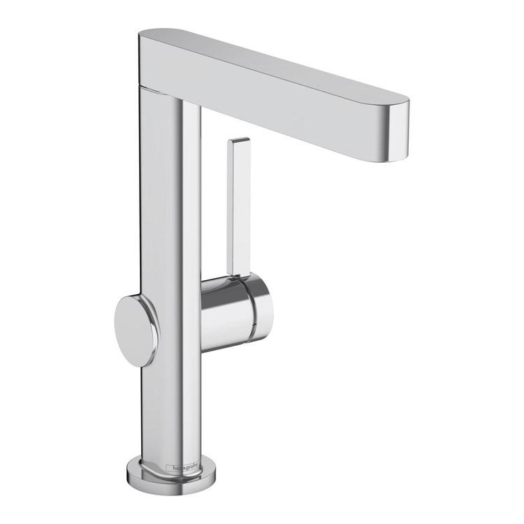 Hansgrohe FINORIS miscelatore monocomando lavabo 230, con bocca erogazione girevole e piletta push-open, finitura cromo 76060000