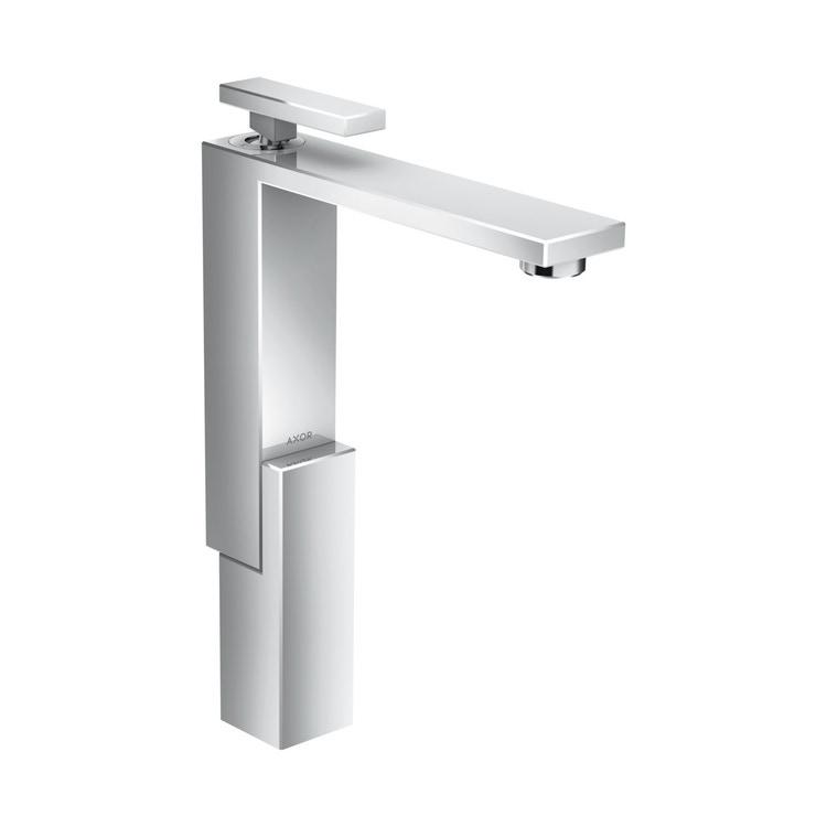 Axor EDGE miscelatore monocomando lavabo 280, con set di scarico push-open, finitura cromo 46030000