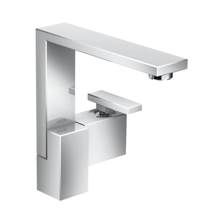 Axor EDGE miscelatore monocomando lavabo 190, con set di scarico push-open, finitura cromo 46020000