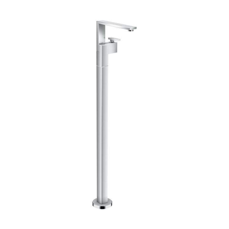 Axor EDGE miscelatore monocomando lavabo, a pavimento, con set di scarico push-open e taglio a diamante, finitura cromo 46041000