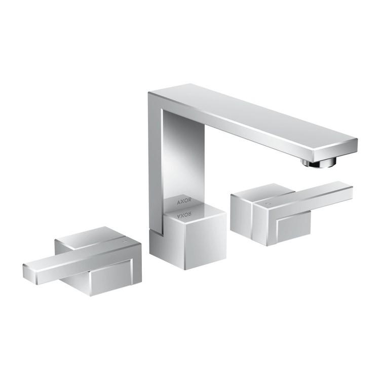 Axor EDGE rubinetteria 3 fori lavabo 130, con set di scarico push-open, finitura cromo 46050000