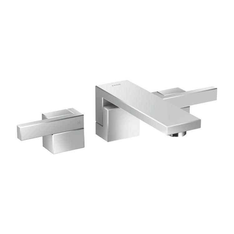 Axor EDGE rubinetteria 3 fori lavabo, ad incasso a parete, con bocca d'erogazione P.19 cm, finitura cromo 46060000