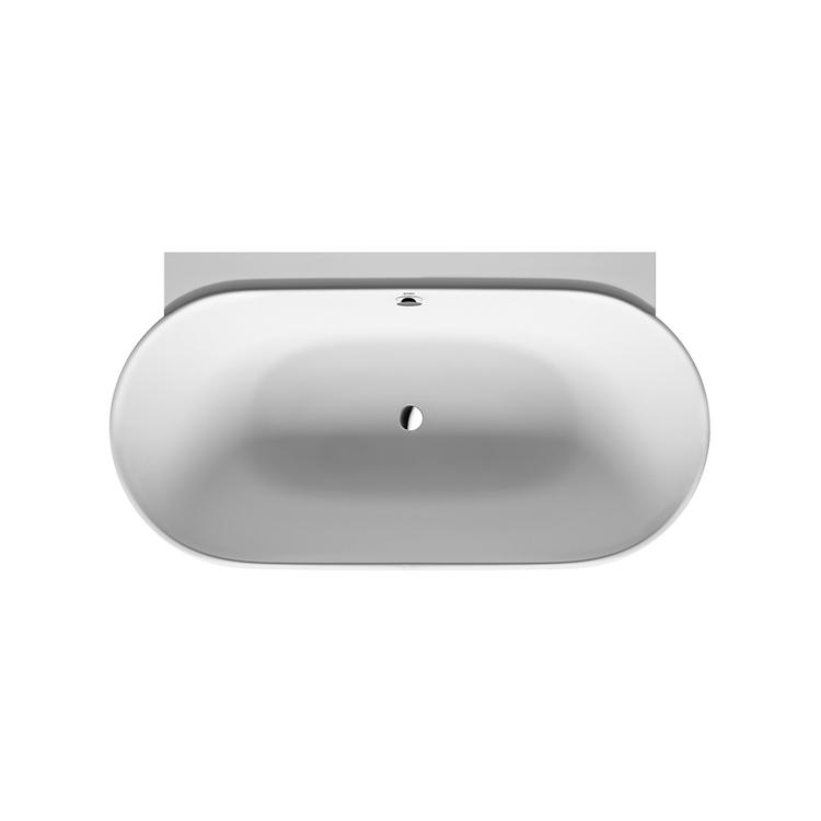 Duravit LUV vasca da appoggio a parete, con pannello integrato e telaio, con due schienali inclinati, colore bianco 700433000000000