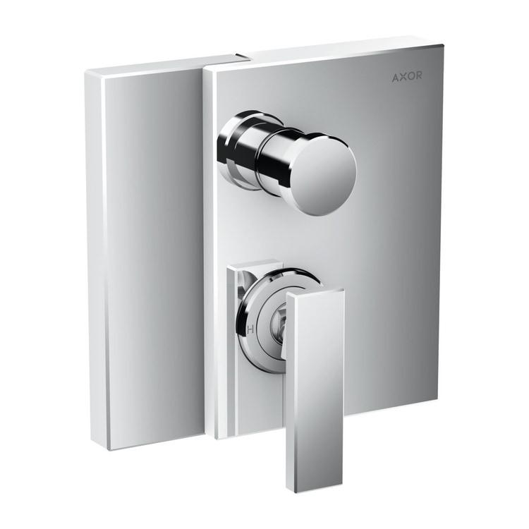 Axor EDGE miscelatore monocomando vasca, per installazione ad incasso, con combinazione di sicurezza integrata secondo la norma EN1717, finitura cromo 46420000