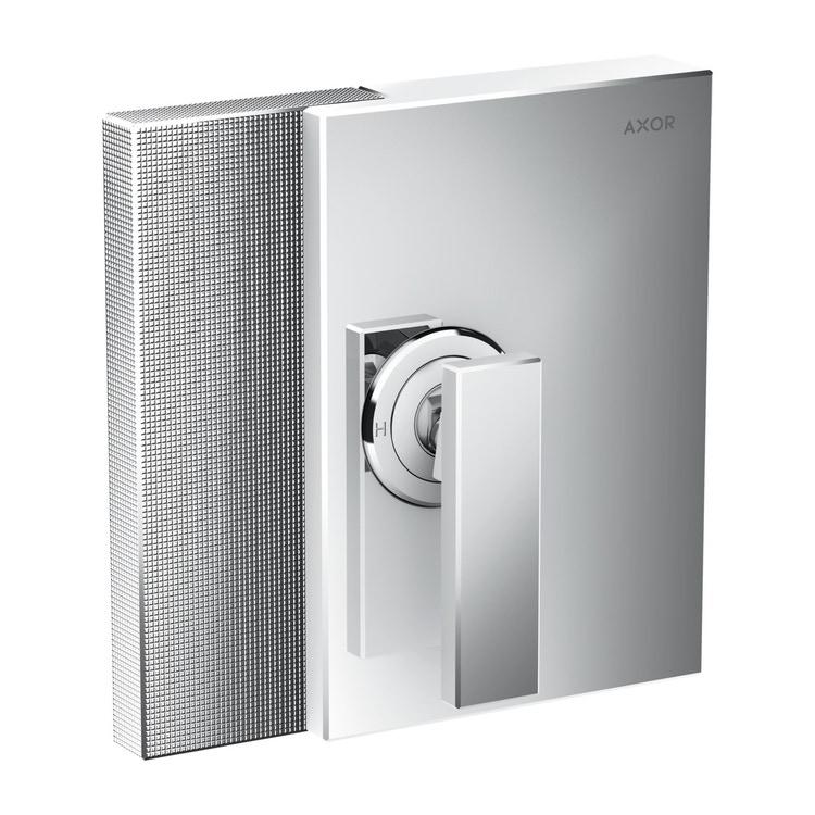Axor EDGE set esterno monocomando doccia, ad incasso, con taglio a diamante, finitura cromo 46651000