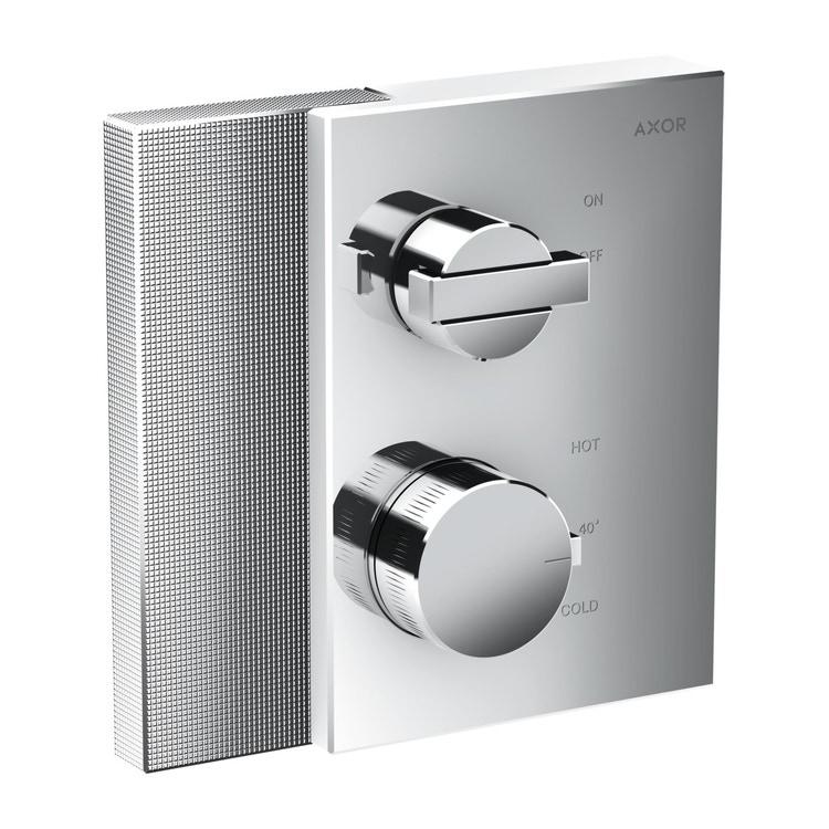 Axor EDGE termostatico ad incasso, con valvola d'arresto, con taglio a diamante, finitura cromo 46751000