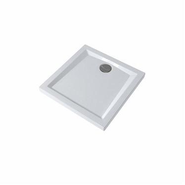 Pozzi Ginori 60 mm piatto doccia quadrato 80x80, bianco 60035000