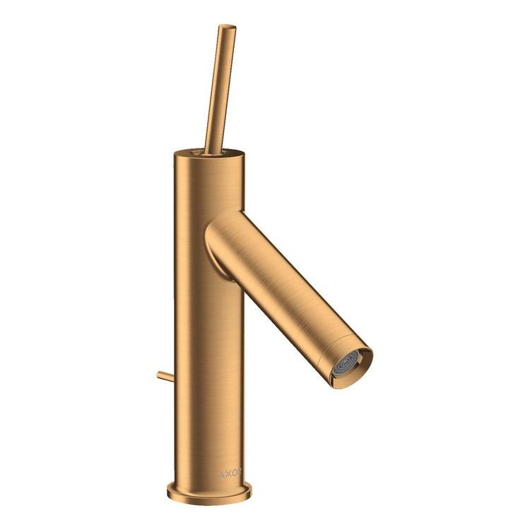 Axor STARCK miscelatore monocomando lavabo 90, con set di scarico pop-up, finitura oro satinato 10111250