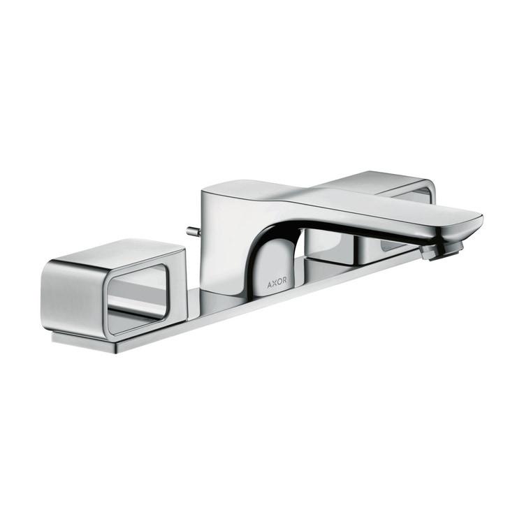 Axor URQUIOLA rubinetteria 3 fori 50, con set di scarico pop-up e piastrine, finitura cromo 11040000