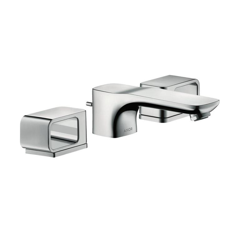 Axor URQUIOLA rubinetteria 3 fori lavabo 50, con set di scarico pop-up e piastrine, finitura cromo 11041000