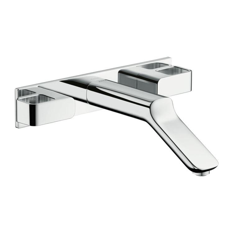 Axor URQUIOLA rubinetteria 3 fori lavabo, ad incasso a parete, con bocca d'erogazione 22,8 cm, finitura cromo 11043000