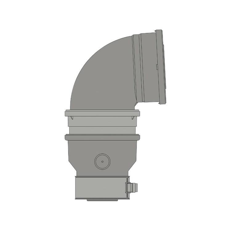Ariston Kit coassiale 80/125 con partenza verticale, completo di adattatore Ø60/100 - Ø80/125, curva Ø60/100 a 87° e singola valvola clapet 3319653