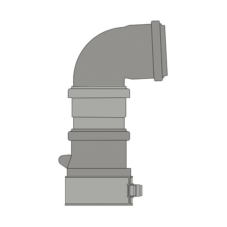 Ariston Kit scarico fumi Ø60 con partenza verticale, completo di curva Ø60 a 87° e singola valvola clapet 3319654