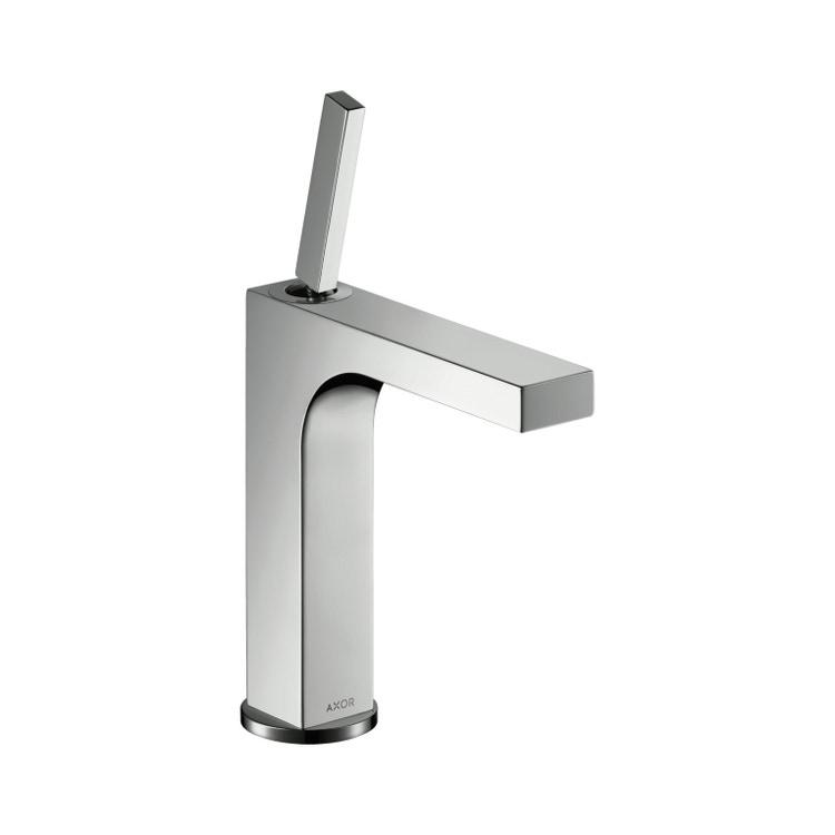 Immagine di Axor CITTERIO miscelatore monocomando lavabo 160, con set di scarico pop-up, finitura cromo 39031000