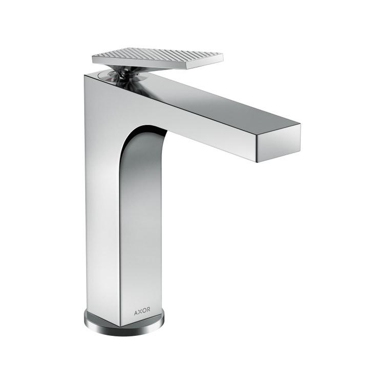 Axor CITTERIO miscelatore monocomando lavabo 160, con maniglia a leva, salterello e taglio romboidale, finitura cromo 39071000