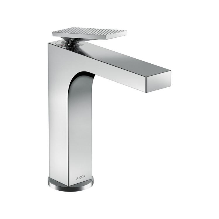 Axor CITTERIO miscelatore monocomando lavabo 160, con maniglia a leva, set di scarico e taglio romboidale, finitura cromo 39081000