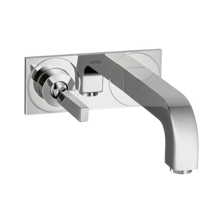 Immagine di Axor CITTERIO miscelatore monocomando lavabo, ad incasso a parete, con bocca d'erogazione 16 cm e piastrina, finitura cromo 39112000