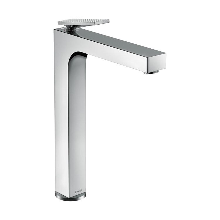 Axor CITTERIO miscelatore monocomando lavabo 280 catino, con maniglia a leva, set di scarico e taglio romboidale, finitura cromo 39151000