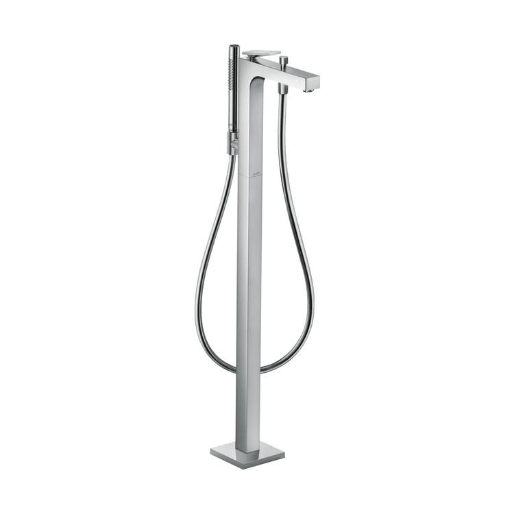 Axor CITTERIO miscelatore monocomando vasca, a pavimento, con maniglia a leva e taglio romboidale, finitura cromo 39471000