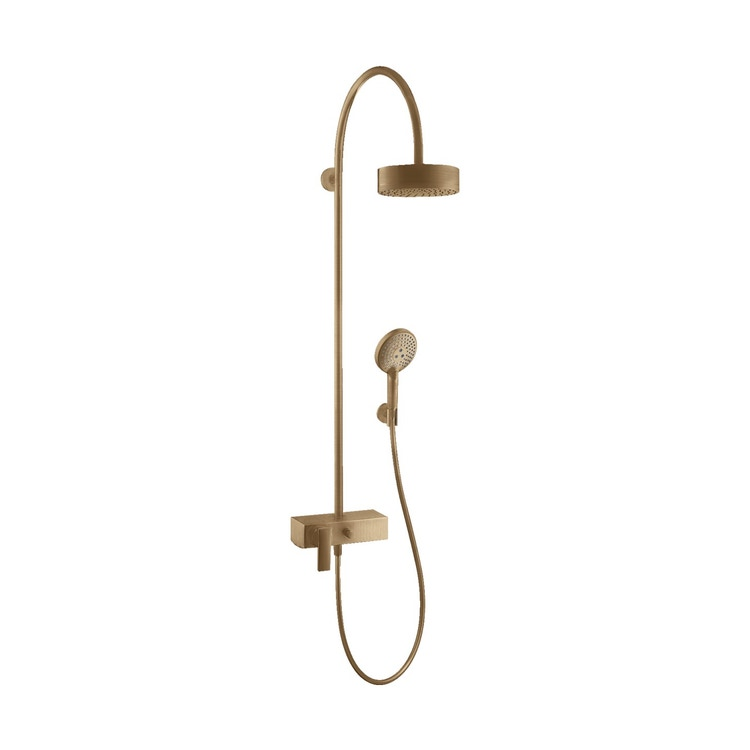 Axor CITTERIO showerpipe con miscelatore monocomando e soffione 180, 1 jet, finitura bronzo satinato 39620140