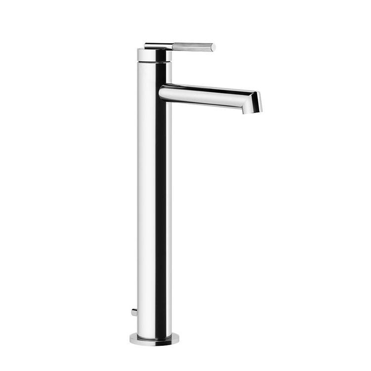 Gessi INGRANAGGIO miscelatore lavabo H.33 cm, con bocca corta, con scarico e flessibili di collegamento, finitura copper brushed PVD 63503#708
