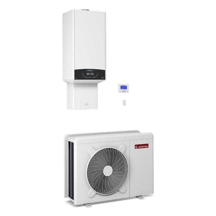 Ariston GENUS ONE HYBRID NET 30/7 T Sistema ibrido compatto composto da pompa di calore trifase integrata con caldaia a condensazione per riscaldamento, raffrescamento e produzione istantanea di ACS 3301782
